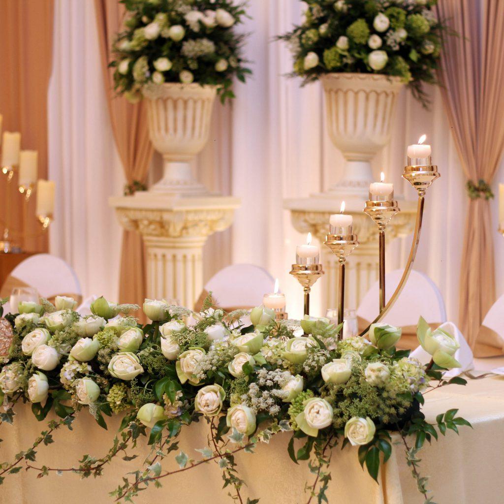 Dekoracje na ślub i wesele - dekoracje sali weselnej, stołów