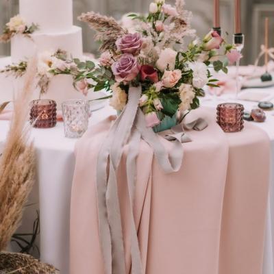 Glamour style stół weselny