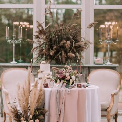 Wesele glamour dekoracje ślubne