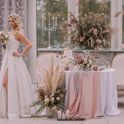 Dekoracje weselne w stylu glamour