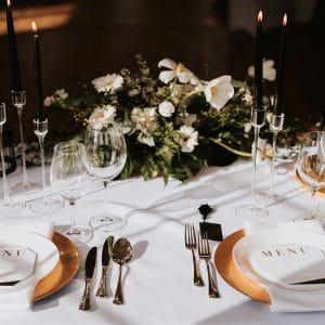 Classy & Elegant Decor - Dekoracje w dobrym guście - Gold, Black & White - Dekoracje ślubne - zloto, czern & biel