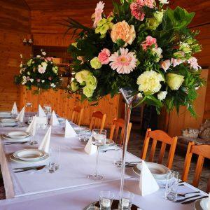 Greenery Martini Decor dekoracje w dobrym guscie gerbera gozdzik roza lustra elegancja i klasa kwiaciarnia szczecin florystka (2)