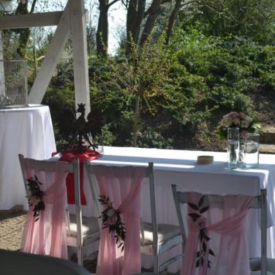 Classy and elegant decor dekoracje w dobrym guscie Ślub plenerowy cywilny ceremonia plener ogrod szczecin zachodniopomorskie